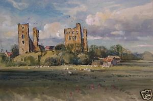J.Barrie Haste - Sherrif Hutton Castle - Watercolour
